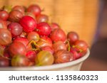 gooseberry background.... | Shutterstock . vector #1135860323