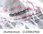 retirement problems  financial... | Shutterstock . vector #1135862960