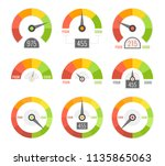 credit score indicators with... | Shutterstock .eps vector #1135865063