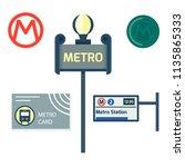 metro station transportation... | Shutterstock .eps vector #1135865333