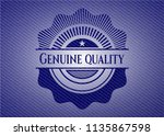 genuine quality emblem with... | Shutterstock .eps vector #1135867598