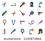 colored vector icon set  ... | Shutterstock .eps vector #1135872866