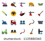 colored vector icon set   field ... | Shutterstock .eps vector #1135880360