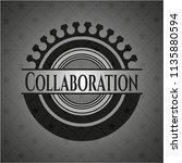 collaboration dark emblem. retro | Shutterstock .eps vector #1135880594