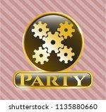 shiny emblem with mechanism... | Shutterstock .eps vector #1135880660