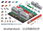railway station constructor... | Shutterstock .eps vector #1135885019