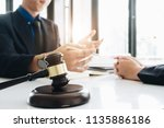 business lawyer working about... | Shutterstock . vector #1135886186
