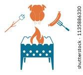 brazier  zephyr  chicken and... | Shutterstock .eps vector #1135886330