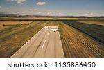 aerial view of a light aircraft ... | Shutterstock . vector #1135886450