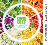 color diet on all days poster.... | Shutterstock .eps vector #1135887236