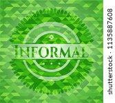 informal realistic green emblem.... | Shutterstock .eps vector #1135887608