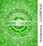 online coaching realistic green ... | Shutterstock .eps vector #1135887620