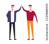 vector family people brothers... | Shutterstock .eps vector #1135888454