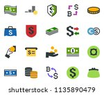 colored vector icon set  ... | Shutterstock .eps vector #1135890479