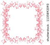 red watercolor crystal diamonds ... | Shutterstock .eps vector #1135892093