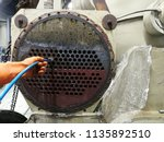 focus on the condenser tube ... | Shutterstock . vector #1135892510