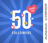 social media banner with thank... | Shutterstock .eps vector #1135893059
