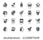 drink and food glyph icons. 20... | Shutterstock .eps vector #1135897649