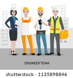 vector characters of engineers... | Shutterstock .eps vector #1135898846