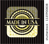 made in usa gold shiny emblem | Shutterstock .eps vector #1135900838