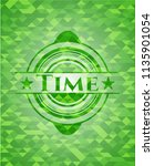 time green emblem with mosaic... | Shutterstock .eps vector #1135901054