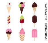 ice cream set collection ... | Shutterstock . vector #1135901396