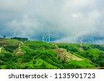 windmill turbine electricity...   Shutterstock . vector #1135901723