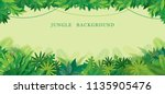 tropical jungle frame  forrest  ... | Shutterstock .eps vector #1135905476