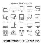 Computers  Bold Line Icons. The ...