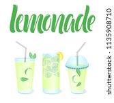 lemonade menu template with... | Shutterstock .eps vector #1135908710