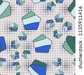 seamless editable pattern...   Shutterstock .eps vector #1135911416
