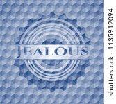 jealous blue emblem with... | Shutterstock .eps vector #1135912094