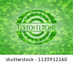 testosterone green emblem with... | Shutterstock .eps vector #1135912160