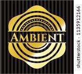 ambient gold emblem | Shutterstock .eps vector #1135912166