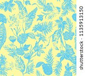 tropical indigo  leaves repeat... | Shutterstock .eps vector #1135913150