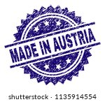 made in austria stamp seal... | Shutterstock .eps vector #1135914554