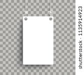 white board on the checked... | Shutterstock .eps vector #1135914923