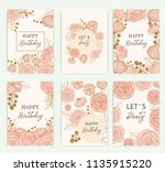set of greeting card with... | Shutterstock .eps vector #1135915220