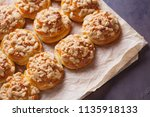 homemade pastry with a topping... | Shutterstock . vector #1135918133
