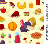 seamless pattern with colorful... | Shutterstock .eps vector #1135919156