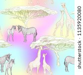 seamless pattern  background ... | Shutterstock .eps vector #1135920080