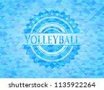 volleyball realistic light blue ... | Shutterstock .eps vector #1135922264