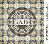gain arabesque emblem...   Shutterstock .eps vector #1135922270
