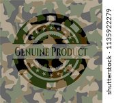 genuine product on camo pattern | Shutterstock .eps vector #1135922279