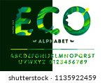 stylish eco alphabet from... | Shutterstock .eps vector #1135922459