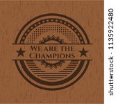 we are the champions wooden... | Shutterstock .eps vector #1135922480