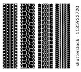 set of four black car tire... | Shutterstock .eps vector #1135922720