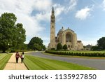 basilica of the national shrine ... | Shutterstock . vector #1135927850