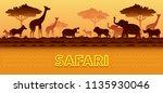 african safari animals... | Shutterstock .eps vector #1135930046