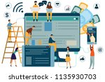 digital marketing concept seo ... | Shutterstock .eps vector #1135930703